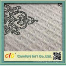 Tissu de matelas de lit Polyester moderne 2016