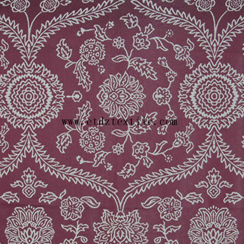 High Qulaity Soft Textile Polyester Curtain GF030 Red