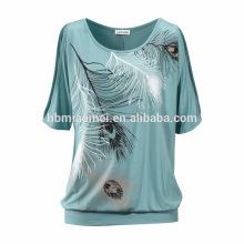 Китай Поставщиком Высокое Качество С Коротким Рукавом Сексуальный Плюс Размер T Рубашки Женщин Одежда Платье