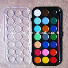 diy artist abstract artist 12 color round Mini Watercolor Paint