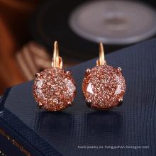 Los pendientes de oro respetuosos del medio ambiente diseñan para el proveedor diario del cristal del desgaste de las muchachas