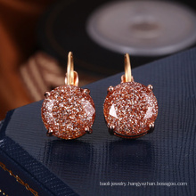 Eco-Friendly gold earrings designs for girls daily wear crystal supplier