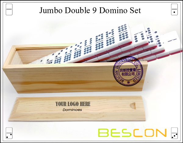 Jumbo Double 9 Domino Set-4
