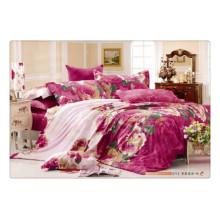 Luxus Hochzeit Bettwäsche Set 100% Baumwolle 40s 128 * 68 Pigment Print Günstige Großhandel Kissen für Bett Abdeckung