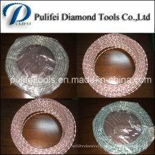 Sinter Electroplate Braze Caoutchouc Plastique Printemps Revêtement Fil Diamant Scie