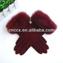 PK17ST312 moda feminina malha luvas de lã