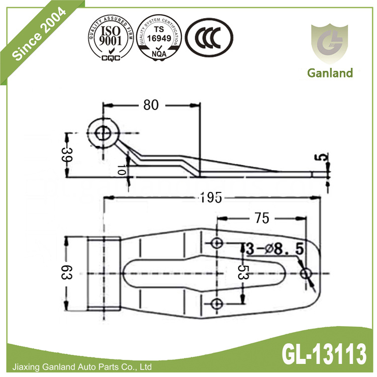 Over seal hinge Specification GL-13113