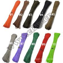 2016 new product Ployester 2mm wholesale parachute rope for children DIY bracelet