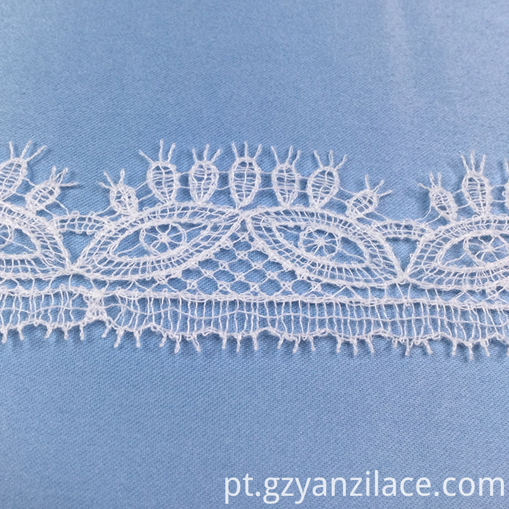 White Bridal Thick Lace Trim by Yard