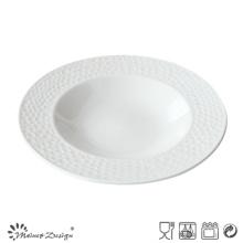 Placa de sopa de alta calidad en relieve vendedora caliente