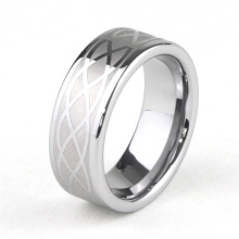 Mens Celtic Knot Tungsten Carbide Ringar