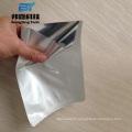 La fermeture à glissière d'emballage de nourriture tiennent le sac de papier d'aluminium