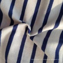 55% Cânhamo 45% Algodão Orgânico Stripe Single Jersey