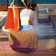 Computerized Wood Cutting Double Saw Blade Angle Sawmill Machine