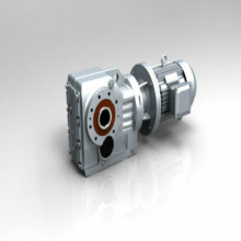 Industri Torsi tinggi KF Shaft Mounted Bevel GearBox