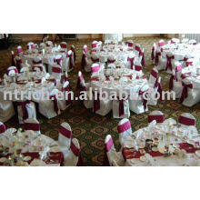 100%polyester chair covers,Hotel chair covers,satin sash