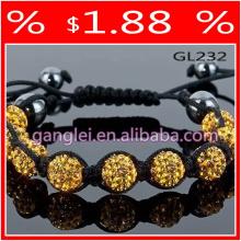 yellow shamballa bracelet