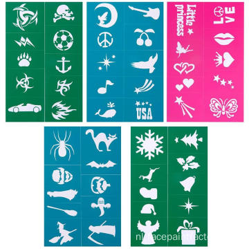 Best Body Art Stencils Easy Face Painting stencils