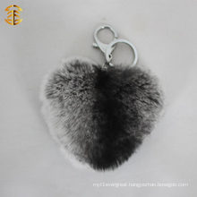 Genuine Novelty Rabbit Fur Ball Pompoms For Key Chain Or Bag Pendant