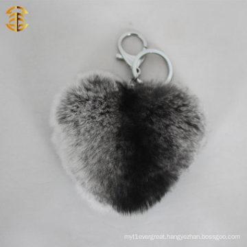 Genuine Novelty Rabbit Fur Ball Pompoms For Key Chain Or Bag Pendant