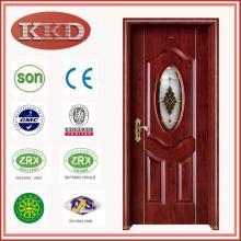 Влага доказательства стали деревянные двери JKD-X1351 для ванной комнаты