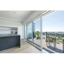 Porta corrediça de alumínio para varanda com fluorcarbono