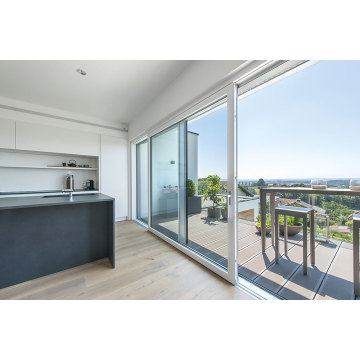 Puerta corrediza de aluminio de patio para balcón fluorocarbono