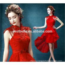 Шикарный красный короткие свадебные платья оптом элегантные дамы красивые свадебные платья