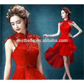 Schicke rote kurze Hochzeitskleider Großhandels-elegante Damen-hübsche Hochzeits-Kleider