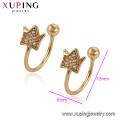 95795 XP Boucles d'oreilles clip de conception simple bijoux en or de mode pour filles
