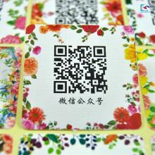 Zoll Design hohe Qualität Spezialpapier Qr-Code gedruckt Aufkleber
