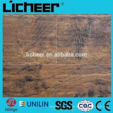 Indoor EIR superfície Laminate flooring fabricantes China imitated piso de madeira / fácil clique laminado piso