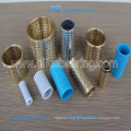 Brass Ball cage with circlip groove, guide ball bearing cages,blue plastic ball bearing cages