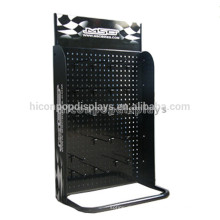Black Pegboard Tabletop Metal Hook Accessories Marketing Hanging Display Stand For Mobile Accessories