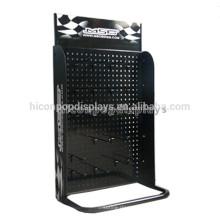Black Pegboard Tabletop Metal Hook Acessórios Marketing suspensão Display Stand para acessórios móveis