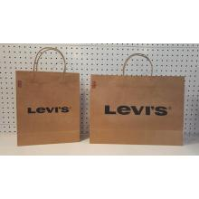 personalized kraft paper shopping bags