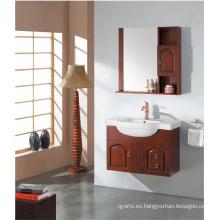 Vanidad clásica del cuarto de baño con el solo fregadero