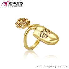13253 Dernière 14k plaqué or spécial imitation mode bijoux bague en alliage de cuivre