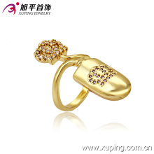 13253 Latest 14k Gold-Plated Special Imitation Fashion Jewelry Finger Ring in Copper Alloy