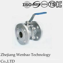 Válvula de esfera flangeada de aço inoxidável V-Type com a almofada de montagem direta