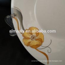 Placa profunda de porcelana, placa de sopa de cerámica