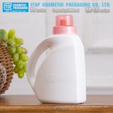 QB-LS1000 popular alta qualidade material plástico 1000ml/1L lavanderia líquido detergentes garrafas de PEAD