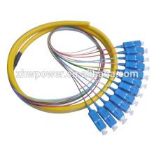 FTTH 0.9mm 2.0mm 3.0mm Single / multimodo SC / PC conectores UPC Fibra Óptica Pigtail