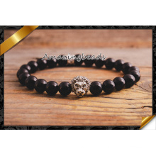 Bracelet en argent de lion d'agate en gros d'usine (CB057)