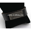 Customize Engraved Alloy Tag Wrap Leather Bracelet Wholesale
