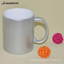 11oz Sublimação Cerâmica Golden / Silver Mug com alça