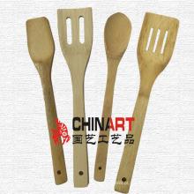 4PCS utensílios de cozinha de bambu cozinhar ferramentas (CB06)