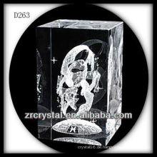 K9 3D Laser-Kristallblock mit Fee nach innen