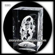 Bloc de cristal laser 3D K9 avec fée à l'intérieur
