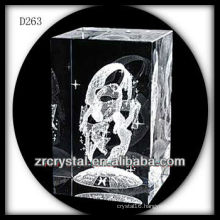 K9 3D Laser Crystal Block with Fairy Inside